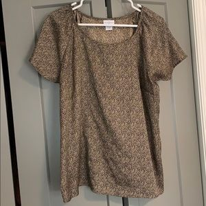 Tan/Black Aztec Print Blouse Size L